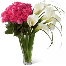LX115 Bouquet Irresistible Luxury Rose & Calla Lily