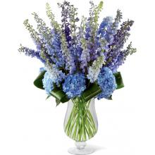 LX117 Bouquet Honestly Luxury Delphinium & Hydrangea